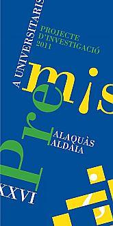 Ajuntament Alaquàs. Agenda. XXVI Convocatoria de los Premios a Universitarios Alaquàs-Aldaia
