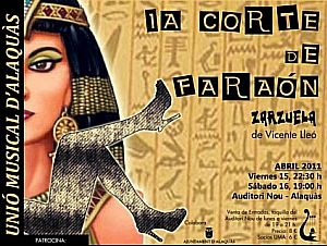 "Ajuntament Alaquàs. Prensa. La UMA representa la zarzuela ""La corte del faraón"""
