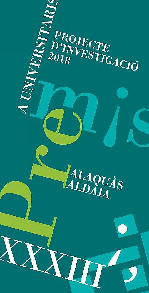 Ajuntament d 39 alaqu s agenda xxxiii convocatoria de los premios a universitarios alaqu s aldaia 2018 - Trabajo en alaquas ...